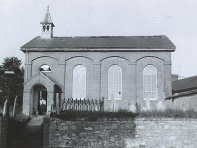Christ Church Woodbury. Photograph taken during the 1930s.