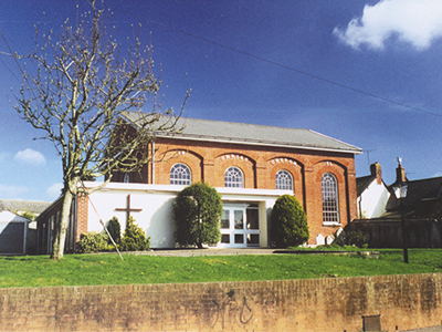 Christ Church Woodbury. The building during the 1960s and 70s.